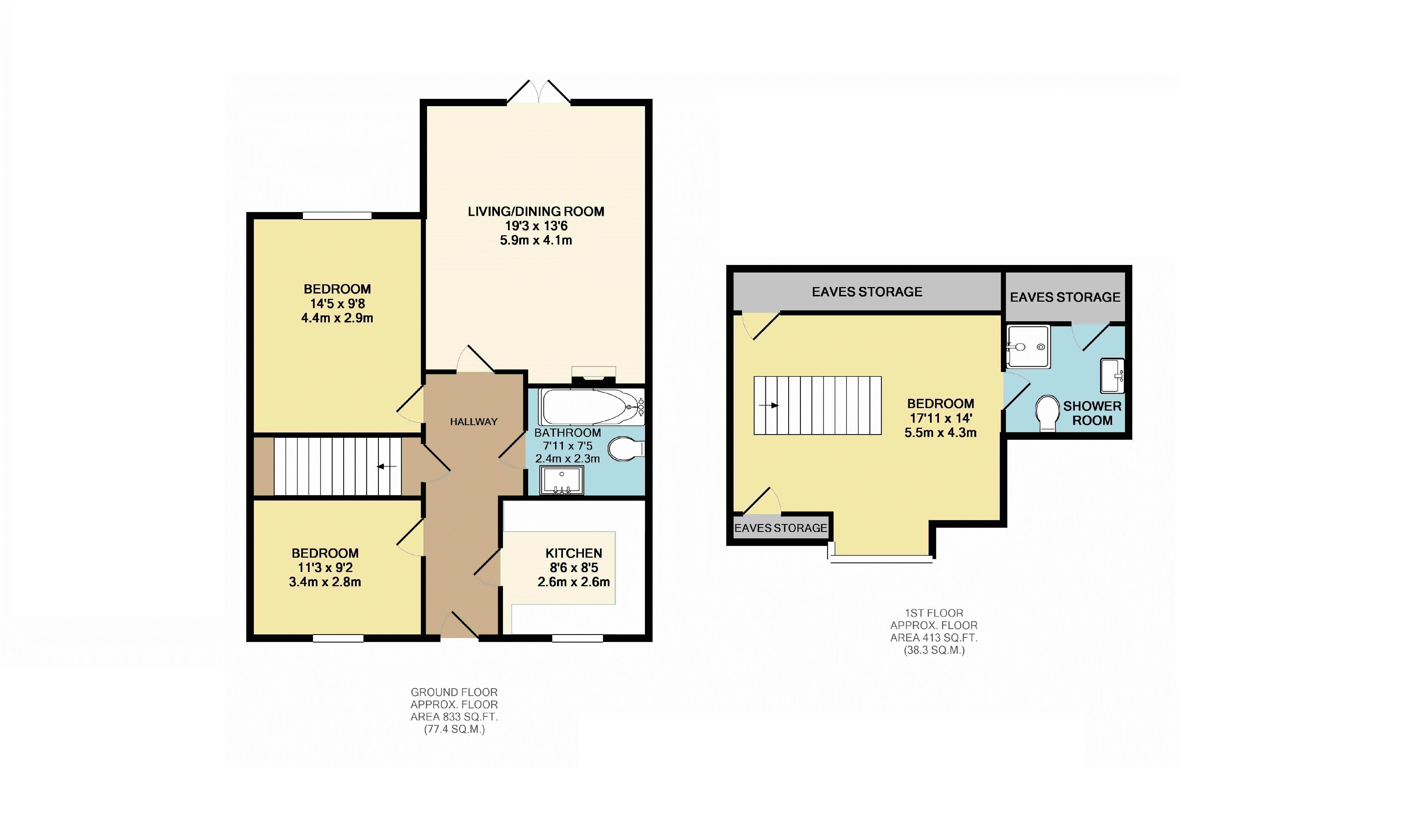 3 bedroom bungalow for sale in luton for How much is a bathroom worth on an appraisal