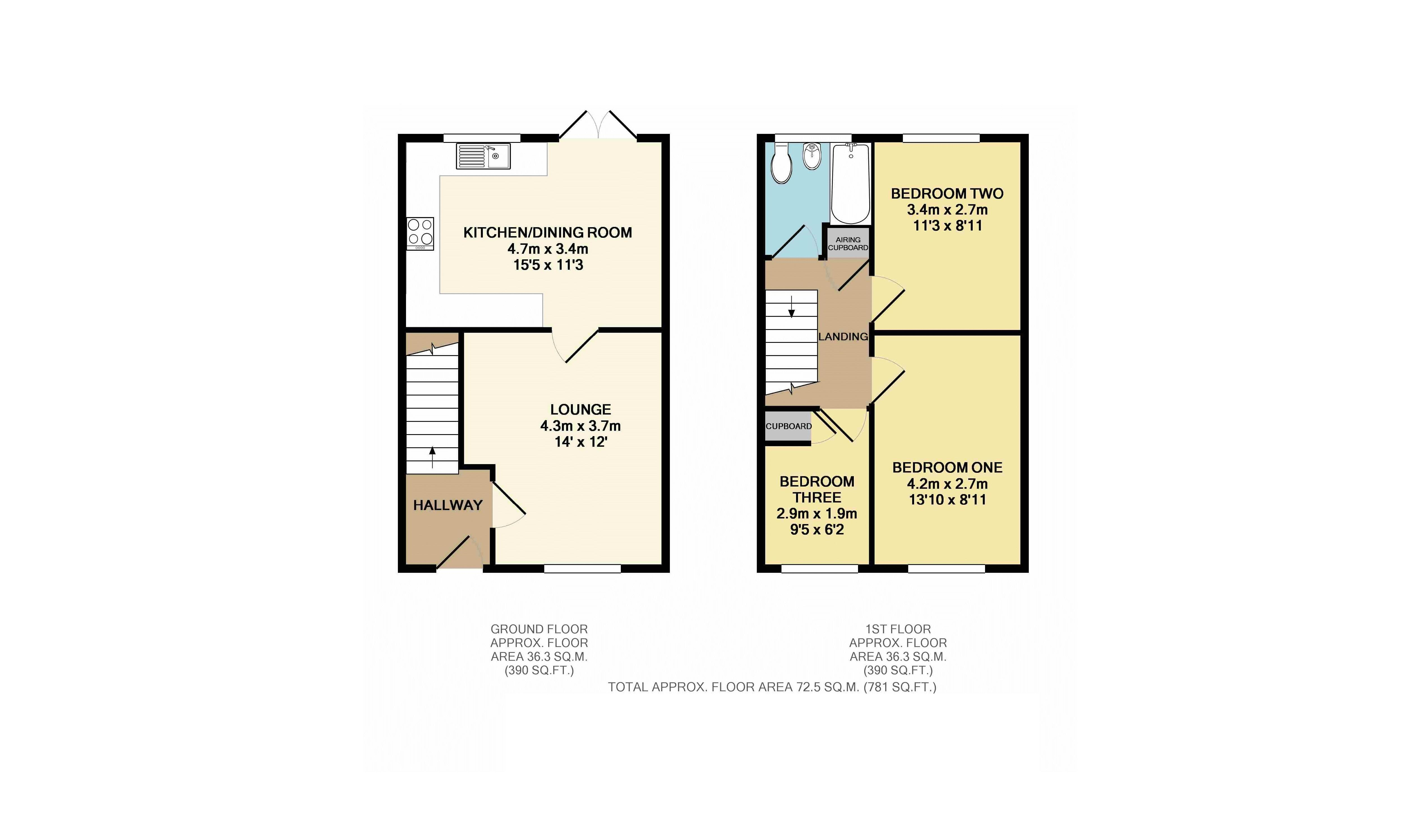 3 bedroom house for sale in linslade for How much is a bathroom worth on an appraisal