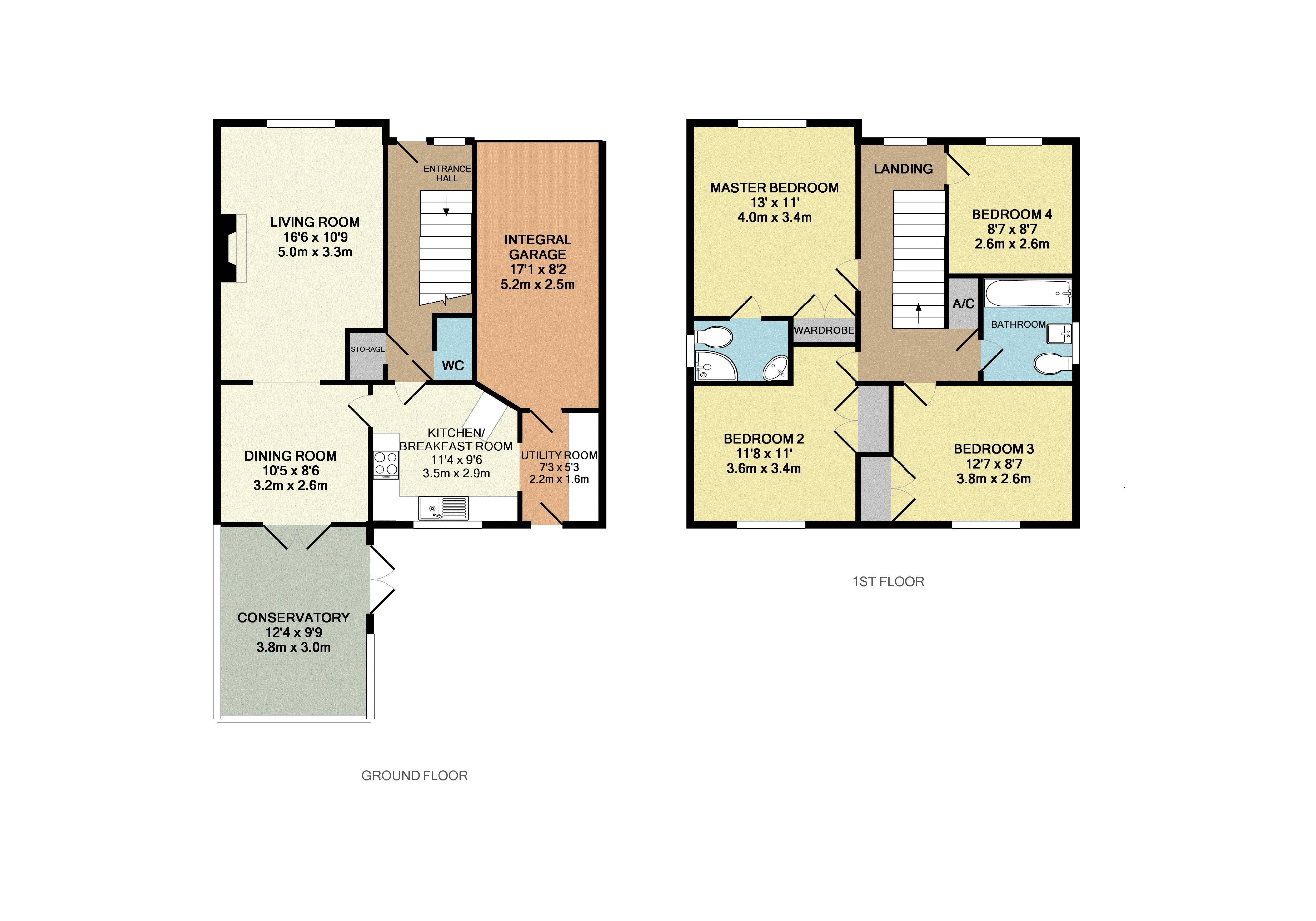4 bedroom house for sale in lidlington for How much is a bedroom worth in an appraisal