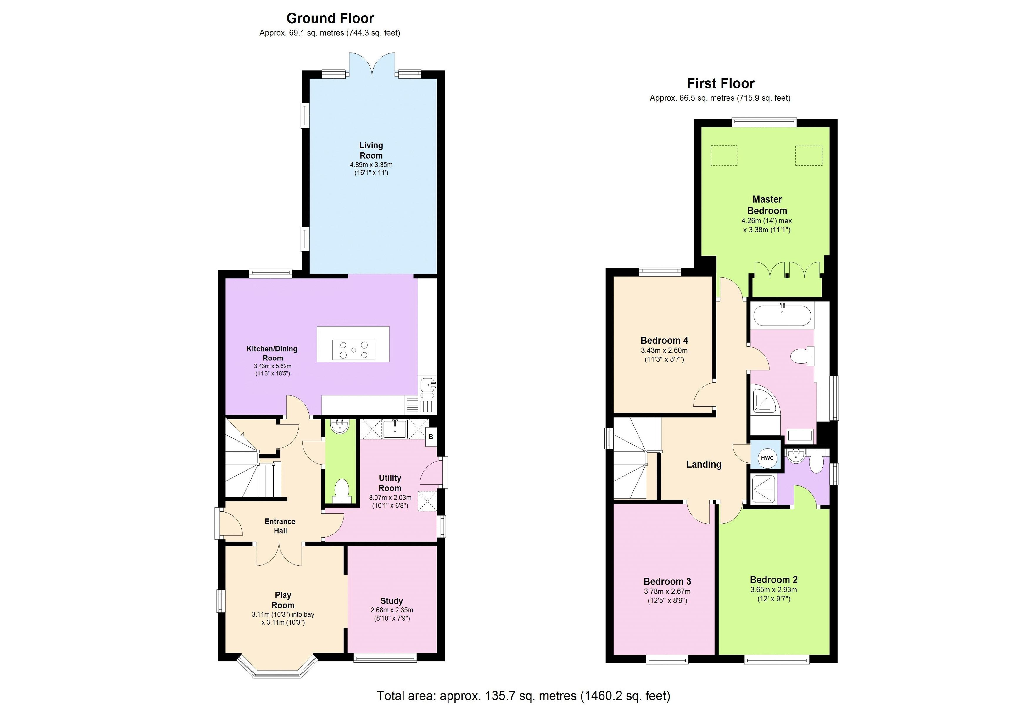 4 bedroom house for sale in biggleswade for How much is a bedroom worth in an appraisal